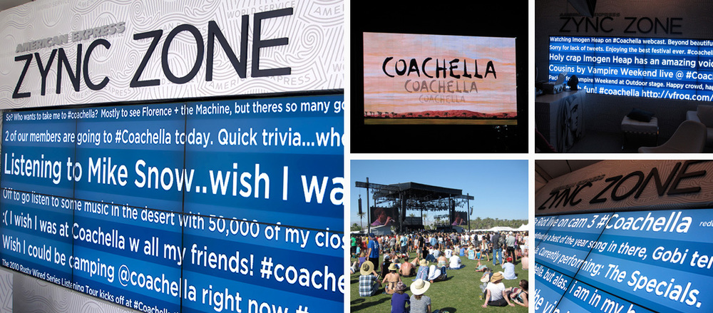 steady american express coachella twitter wall