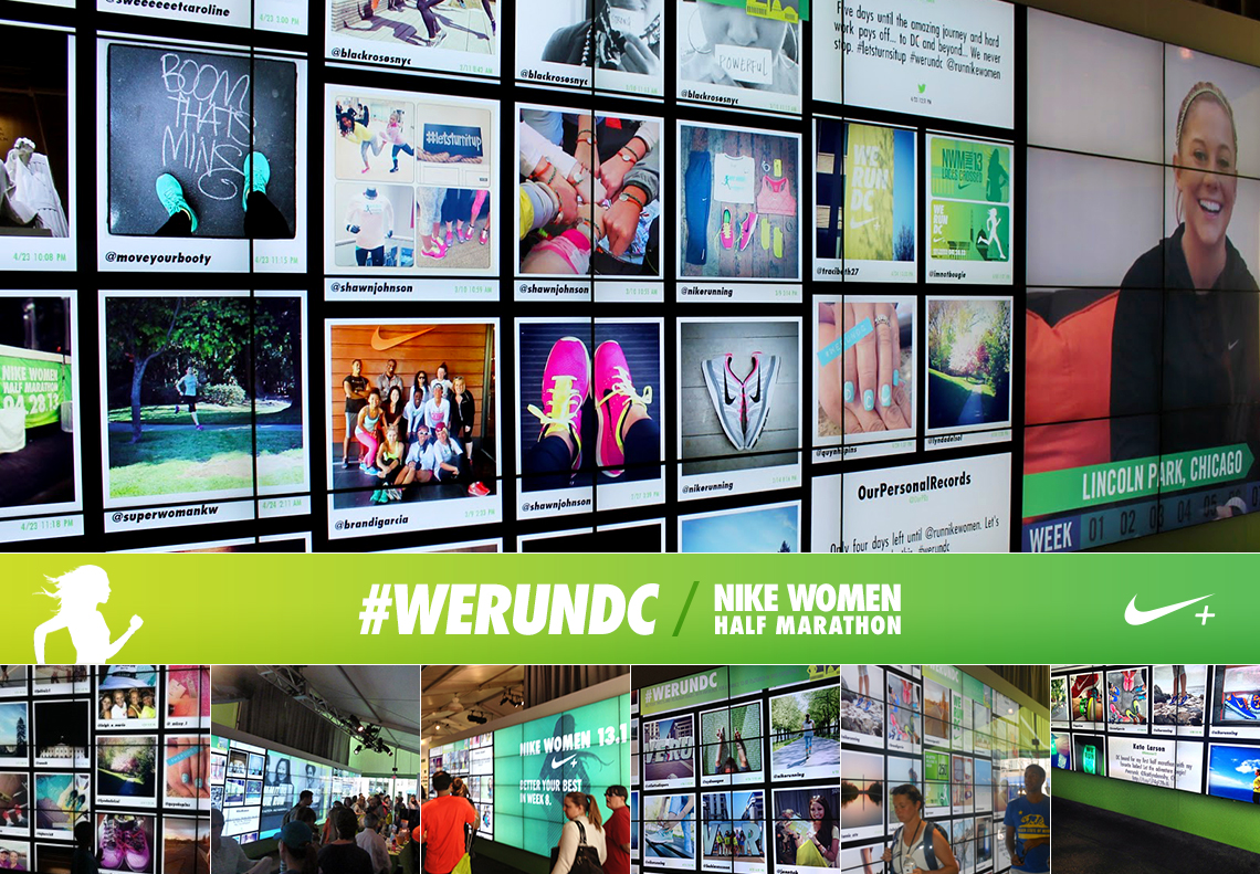 steady nike women's half-marathon social wall