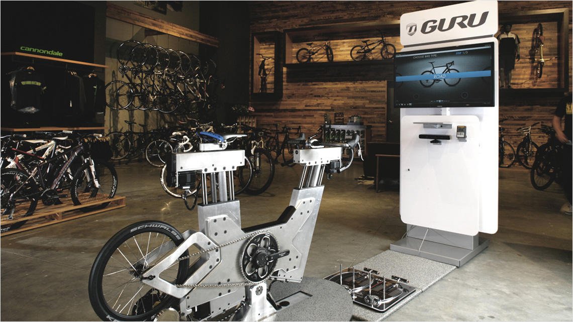 steady guru bike fit customzation
