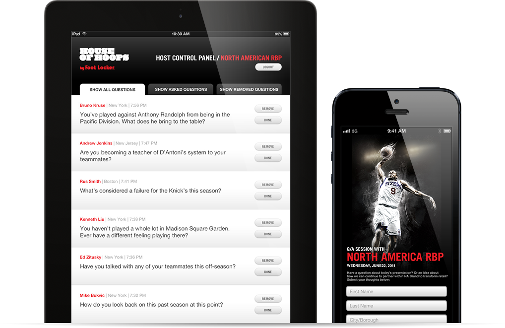 steady house of hoops ask an athlete q&a tool